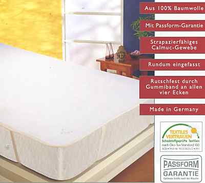 Baumwoll Molton Matratzenauflage
