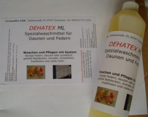 Doppelpack 2X Daunenwaschmittel DEHATEX ML (100 ml = 2,52 €)